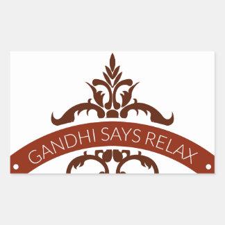 ghandi says relax sticker