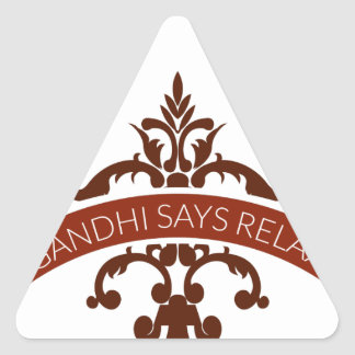 ghandi says relax triangle sticker