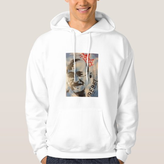 Ghandi's Rebellion     Hoodie (Art made by Donzy)