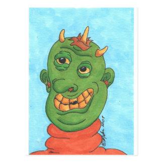 Ghastly Ghoul Postcard