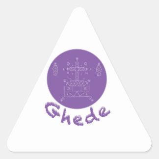 Ghede Samedi Veve Triangle Sticker