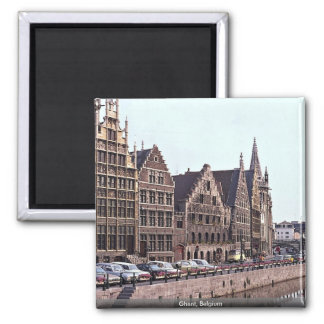 Ghent, Belgium Square Magnet