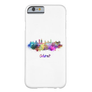 Ghent skyline in watercolor barely there iPhone 6 case
