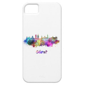 Ghent skyline in watercolor case for the iPhone 5