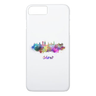 Ghent skyline in watercolor iPhone 7 plus case