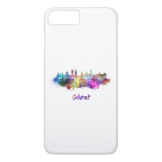 Ghent skyline in watercolor iPhone 8 plus/7 plus case