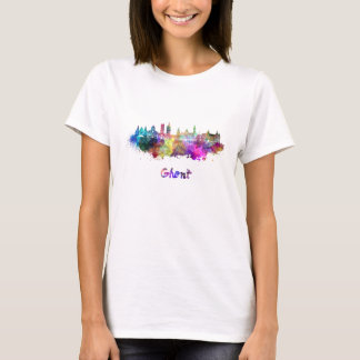 Ghent skyline in watercolor T-Shirt