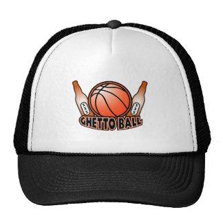 Ghetto Ball Basket Ball Beer Shirt 2 Trucker Hat