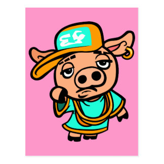 Ghetto Pig Postcard