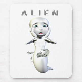 Ghost Alien Mouse Pad
