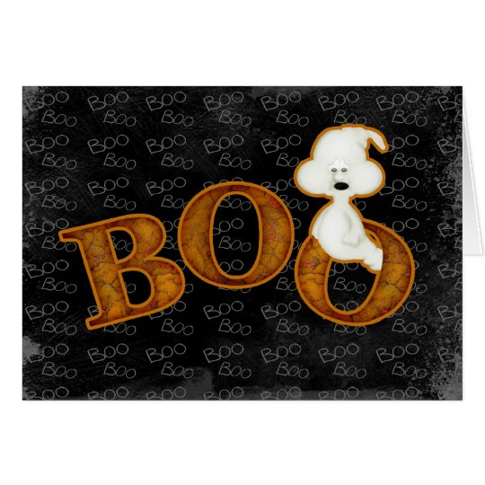 Ghost and Boo Halloween Card