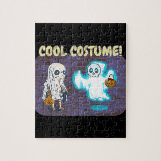 Ghost and Skeleton Costume Jigsaw Puzzle