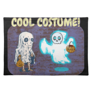 Ghost and Skeleton Costume Placemat