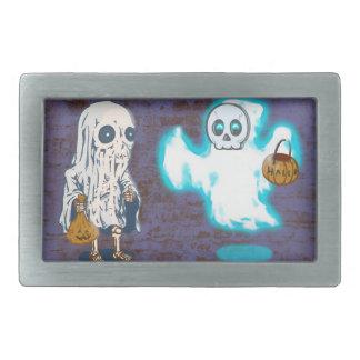 Ghost and Skeleton Costume Rectangular Belt Buckle