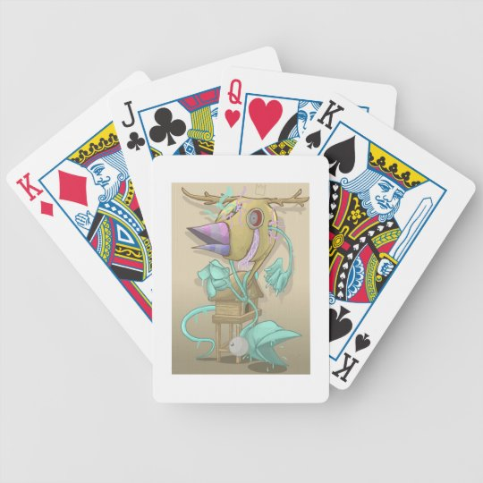 Ghost Animal Bicycle Playing Cards