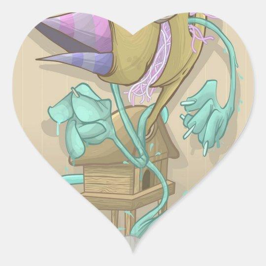 Ghost Animal Heart Sticker