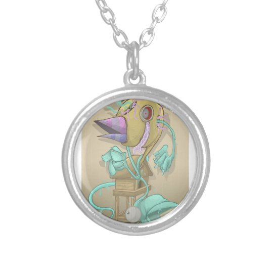 Ghost Animal Silver Plated Necklace