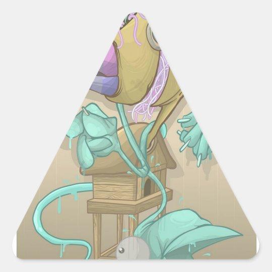 Ghost Animal Triangle Sticker