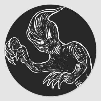 Ghost Badge Round Sticker