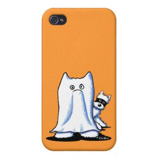 Ghost Bandit Halloween Westies Case For iPhone 4