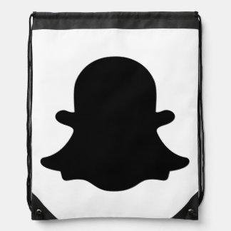 Ghost -  Black Drawstring Bag