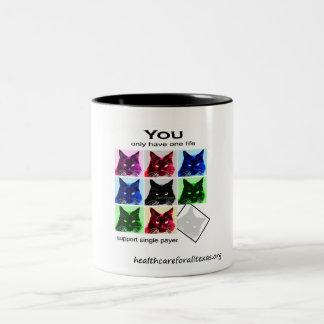 Ghost Cat Two-Tone Coffee Mug