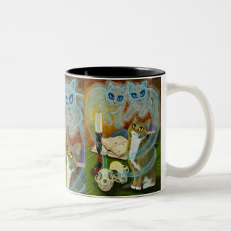 Ghost Cats Magic Spells Witch Art Mug