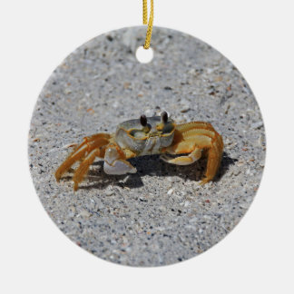 Ghost Crab Ceramic Ornament