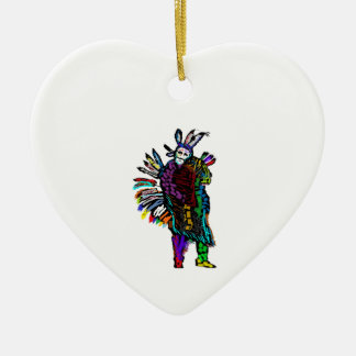 Ghost Dance Ceramic Ornament