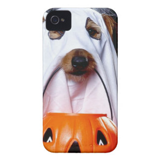 Ghost  dog - funny dog - dog halloween iPhone 4 covers
