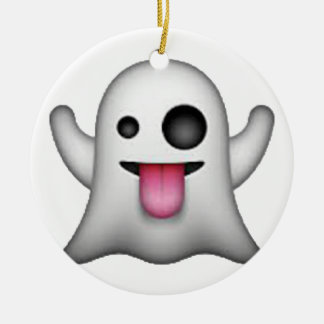 Ghost - Emoji Ceramic Ornament