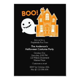 Ghost Fun Not So Scary Halloween Party Invitation
