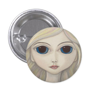 Ghost Gaze badge 1 Inch Round Button