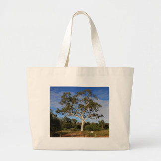 Ghost gum tree, Outback Australia Large Tote Bag