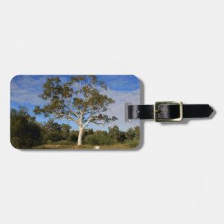 Ghost gum tree, Outback Australia Luggage Tag