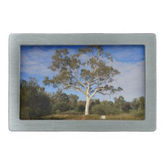Ghost gum tree, Outback Australia Rectangular Belt Buckles