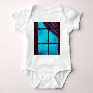 Ghost Hands on Window Baby Bodysuit