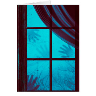 Ghost Hands on Window Card