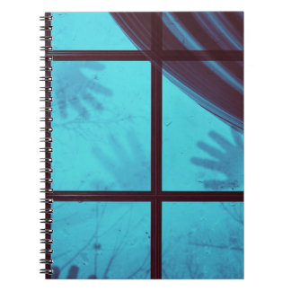 Ghost Hands on Window Notebook
