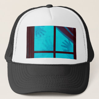 Ghost Hands on Window Trucker Hat