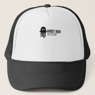 Ghost Hug Is Real Halloween Design Trucker Hat