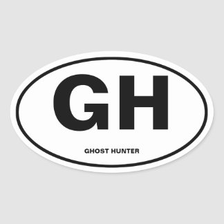 Ghost Hunter Oval Sticker