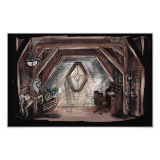 Ghost in the Attic Art Print