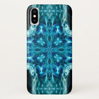 Ghost Kitty Cat Neon Mandala Case