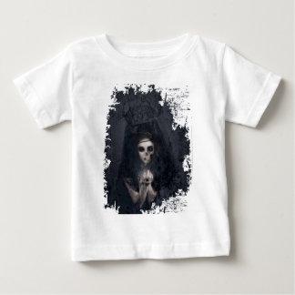Ghost Lady Haunting Skull Skeleton Baby T-Shirt