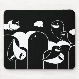 ghost love mouse pad