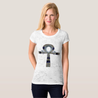 Ghost of Ankh Ladies Burnout T-Shirt