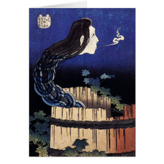 Ghost of Okiku - Hokusai Card