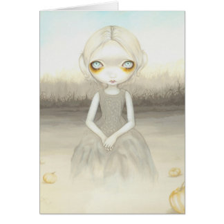 """Ghost of the Pumpkin Patch"" Greeting Card"