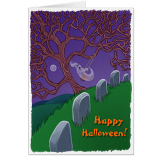 Ghost on a Swing Card